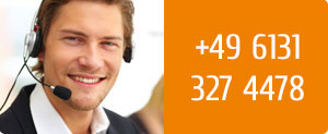 Customer Service by phone: +49 6131 - 327 4478