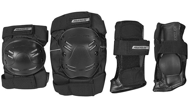 "Accessories for Nordic Skating Safety gear Knee and Ellbow Protection Set ""Allround Protection"" by Powerslide"