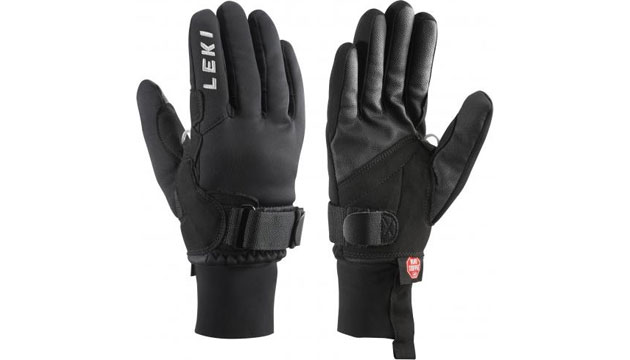 Accessories for Nordic Skating Safety gear Leki Shark XC Glove with click in system