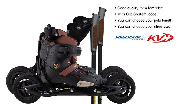 Nordic Cross Skates Powerslide XC Trainer Bronx 2018 Powerslide XC Trainer Bronx 2018 Set with KV+ Advance Poles
