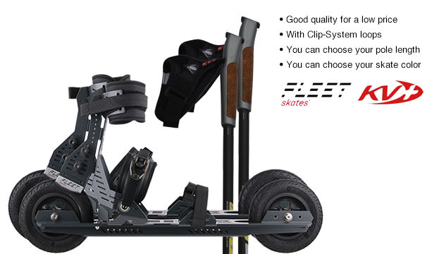 Nordic Cross Skates FLEET Skate F3-1 FLEET Skate F3-1 Set with KV+ Advance Poles
