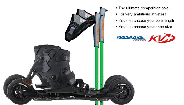 Nordic Cross Skates Powerslide XC Skeleton 2 Powerslide XC Skeleton 2 Set with KV+ CH-1 Poles