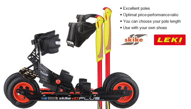 Nordic Cross Skates Skike V07 PLUS Skike V07 PLUS Set with LEKI Genius Carbon Poles