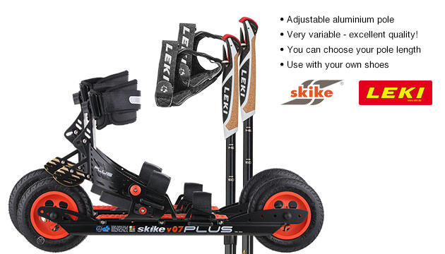 Replacement parts for Nordic Skates Schwaben-Skike Complete Set with Skike V07 PLUS/LEKI Alu Vario CC