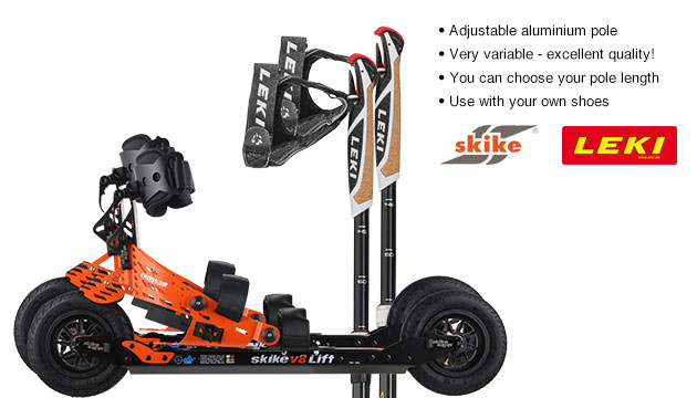 Nordic Cross Skates Skike v8 LIFT Cross Skike v8 LIFT Cross Set with LEKI Alu Vario CC Poles