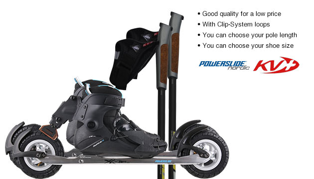 Nordic Cross Skates Powerslide XC Path Vi Powerslide XC Path Vi Set with KV+ Advance Poles