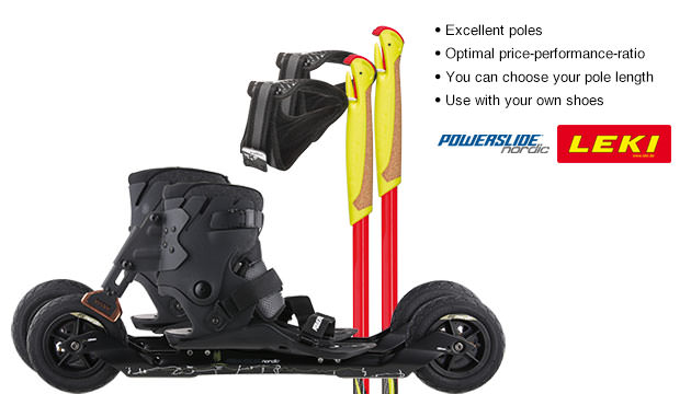 Nordic Cross Skates Powerslide XC Skeleton 2 Powerslide XC Skeleton 2 Set with LEKI Genius Carbon Poles