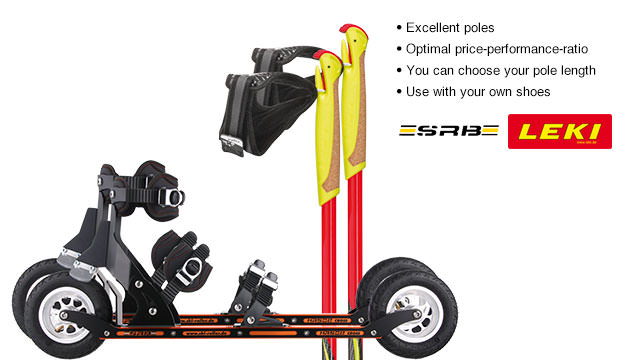 Nordic Cross Skates SRB XRS02 SRB XRS02 Set with LEKI Genius Carbon Poles