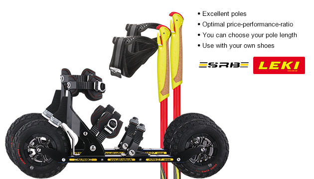 Nordic Cross Skates SRB XRS07 SRB XRS07 Set with LEKI Genius Carbon Poles