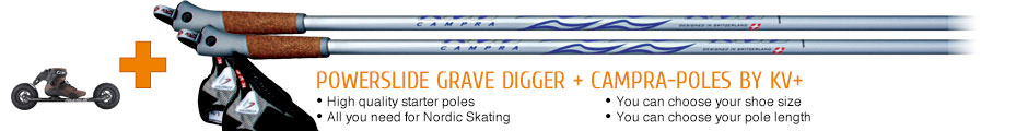 High quality starter poles, all you need for Nordic Skating, you can choose your shoe size, you can choose your pole length