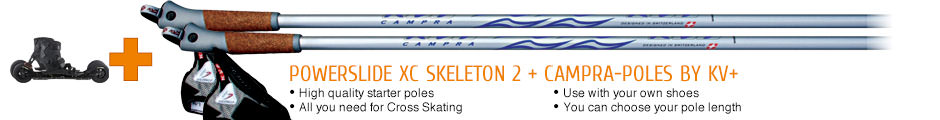 High quality starter poles, all you need for Nordic Skating, use with your own shoes, you can choose your pole length