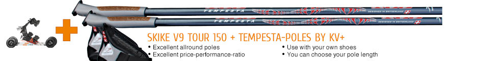 Excellent allround poles, excellent price-performance-ratio, use with your own shoes, you can choose your pole length