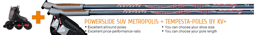 Excellent allround poles, excellent price-performance-ratio, you can choose your shoe size, you can choose your pole length