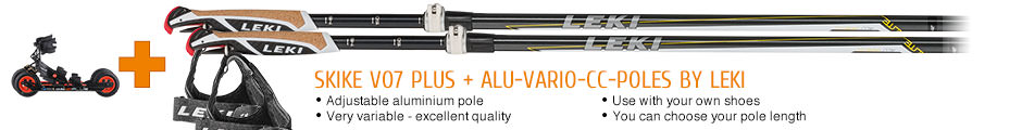 Adjustable aluminium pole, very variable - excellent quality, use with your own shoes, you can choose your pole length